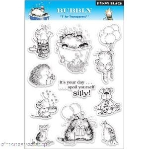 Penny Black Clear Stamps BUBBLY Bubbles & More Critters 30-012