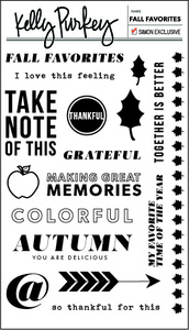 Kelly Purkey Clear Stamp FALL FAVORITES FAF013