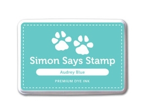 Simon Says Stamp Audrey Blue Ink