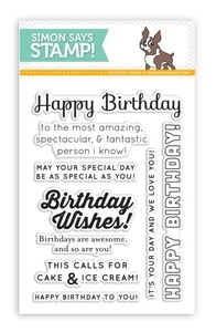 Simon Says Clear Stamps BIRTHDAY Messages