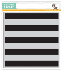 imon Says Cling Rubber Stamp WIDE STRIPES BACKGROUND