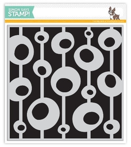Simon Says Cling Rubber Stamp BUBBLES & BARS SSS101395 *