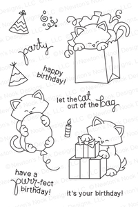Newton's Nook Designs NEWTON'S BIRTHDAY BASH Clear Stamp Set 20140201 zoom image