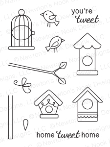 Newton's Nook Designs TWEET TALK Clear Stamp Set 20140202