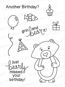 Newton's Nook Designs WINSTON'S BIRTHDAY Clear Stamp Set 20140203