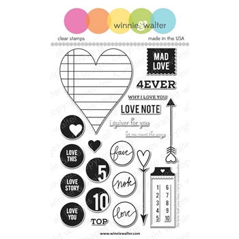 Winnie and Walter THE WRITE STUFF LOVE STORY Clear Stamps TWSLS*