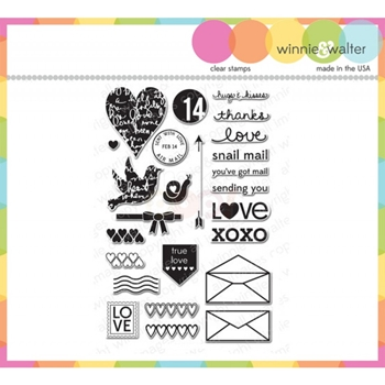 Winnie and Walter YOUVE GOT LOVE MAIL Clear Stamps WW004