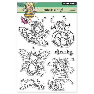Penny Black Clear Stamps CUTE AS A BUG Transparent 30-220 zoom image