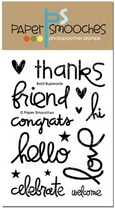 Paper Smooches BOLD BUZZWORDS Clear Stamps Kim Hughes* Preview Image
