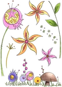 Paper Artsy JOFY 24 Rubber Cling Stamp JOFY24 Preview Image