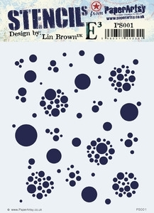 Paper Artsy LIN BROWN ECLECTICA3 Stencil PS001 Preview Image