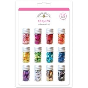 Doodlebug RAINBOW ASSORTMENT Sequins 12 Colors 4268