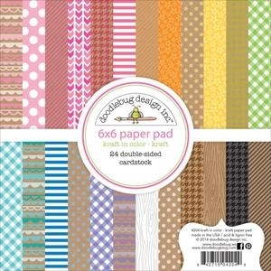 Doodlebug KRAFT IN COLOR - KRAFT 6 x 6 Paper Pad Preview Image