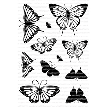Clearly Besotted ELEGANT BUTTERFLIES Clear Stamp Set