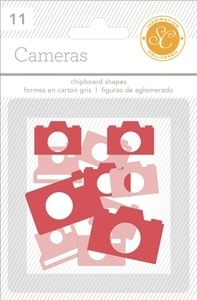 Studio Calico RED & PINK CAMERAS Essentials Chipboard Shapes 332088