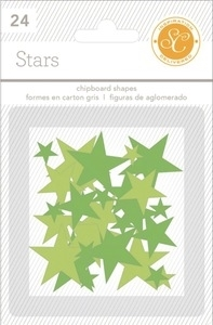 Studio Calico GREENS STARS Essentials Chipboard Shapes 332097