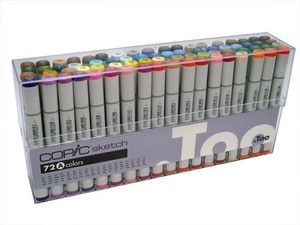 Copic SKETCH 72 PC SET A Markers AAAS72A