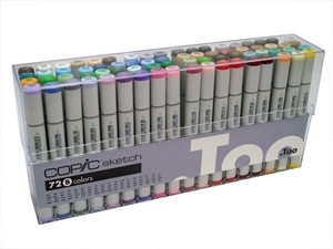 Copic SKETCH 72 PC SET B Markers BBBS72B