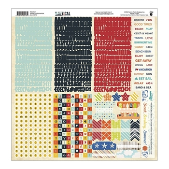 Fancy Pants NAUTICAL 12 x 12 Fundamentals Cardstock Stickers 2213*