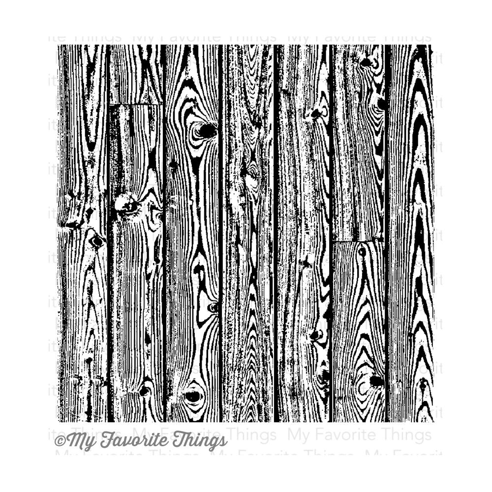 My Favorite Things WOOD PLANK BACKGROUND Cling Stamp MFT zoom image