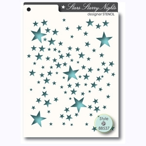 Memory Box STARS STARRY NIGHTS Designer Stencil 88537 Preview Image