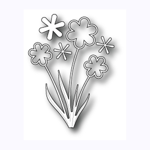 Memory Box GROOVY FLOWER POPPY STAMPS Craft DIE 1015 Preview Image