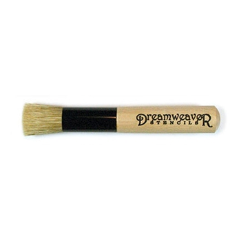 Dreamweaver 1/2 inch STENCIL BRUSH Natural Handle NHB12