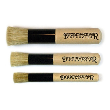 Dreamweaver STENCIL BRUSH SET Natural Handle NHBS-3