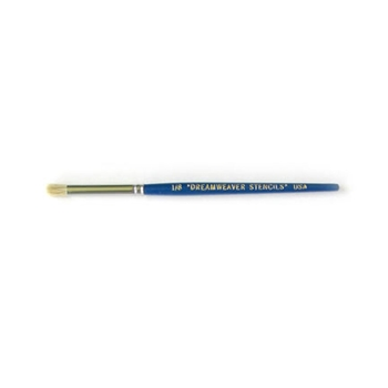 Dreamweaver 1/8 Inch STENCIL BRUSH Blue Handle BHB3