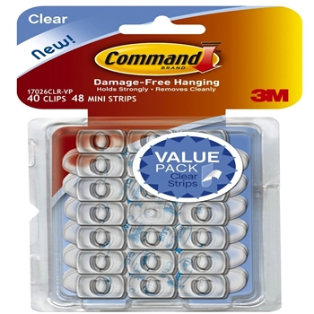 Command CLEAR DECORATING CLIPS 40 Pack 17026CLR-VP