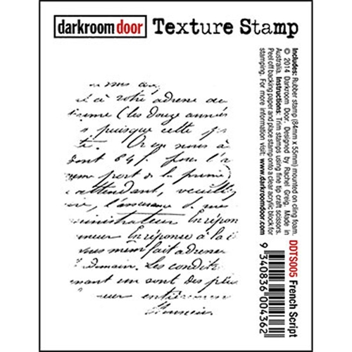 Darkroom Door Cling Stamp FRENCH SCRIPT Texture Rubber UM DDTS005 Preview Image