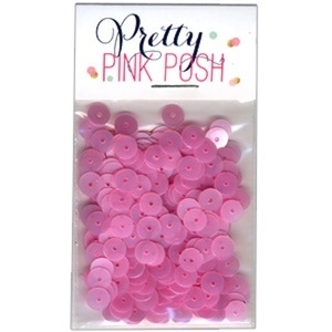 Pretty Pink Posh 6mm PINK BLUSH Flat Sequins
