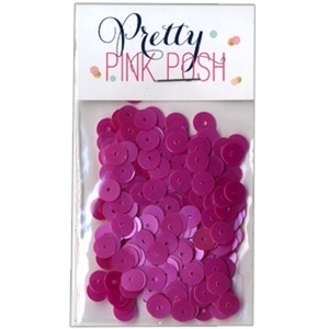 Pretty Pink Posh 6mm ORCHID Flat Sequins