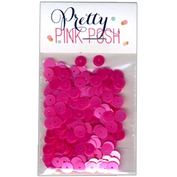 Pretty Pink Posh PINK PEONIES Flat 6mm Sequins