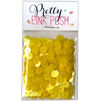 Pretty Pink Posh LEMON DROP Flat 6mm Sequins*