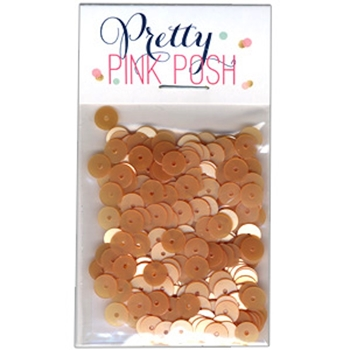Pretty Pink Posh SAND Flat 6mm Sequins