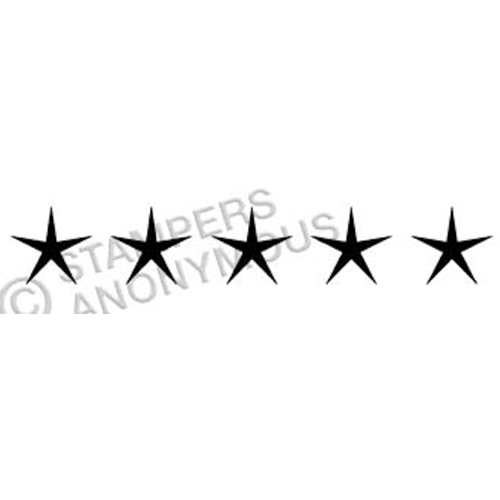Tim Holtz Rubber Stamp SCRIPT STARS Stampers Anonymous E4-2320* Preview Image