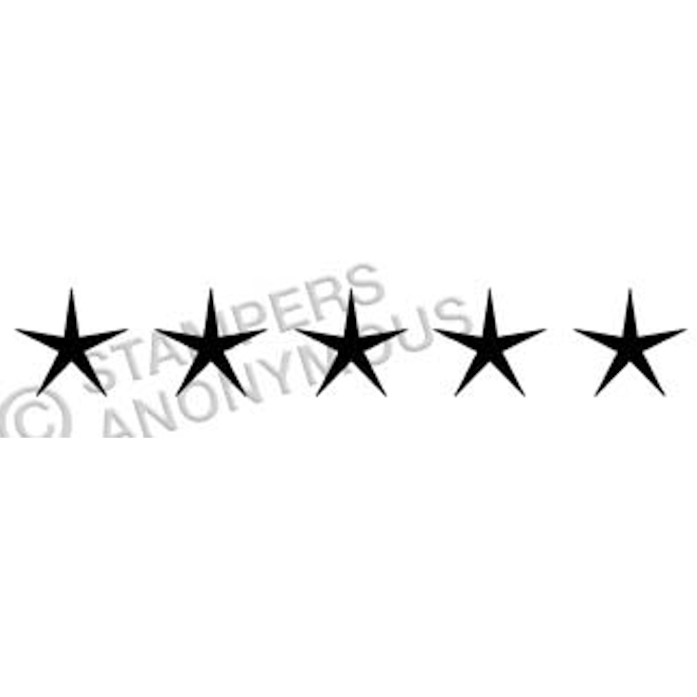 Tim Holtz Rubber Stamp SCRIPT STARS Stampers Anonymous E4-2320* zoom image