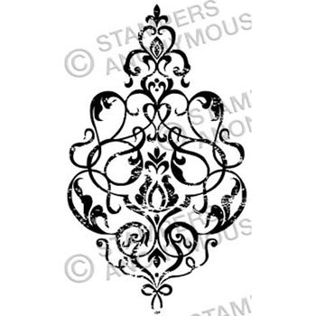 Tim Holtz Rubber Stamp DAMASK 3 Stampers Anonymous M3-2328