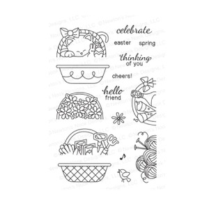Newton's Nook Designs BASKET OF WISHES Clear Stamp Set 20140301 zoom image