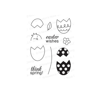 Newton's Nook Designs EASTER SCRAMBLE Clear Stamp Set 20140303*