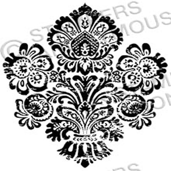 Tim Holtz Rubber Stamp DAMASK 4 Stampers Anonymous H2-2327