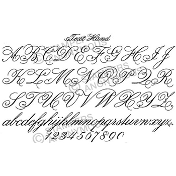 Tim Holtz Rubber Stamp HANDWRITING  Stampers Anonymous U1-2324
