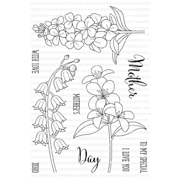 Clearly Besotted FRESH FLOWERS Clear Stamp Set