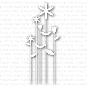 Simon Says Stamp TALL FLOWERS Craft Die S236 *