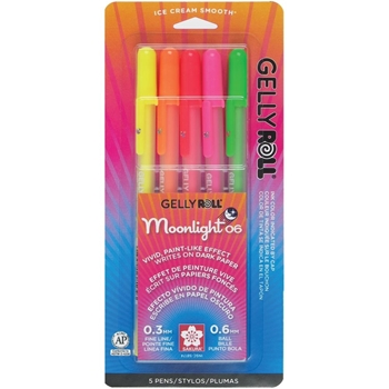 Sakura MOONLIGHT GELLY ROLL 5 Set Bold Point Pens 58174