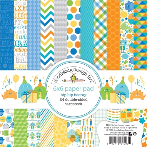 Doodlebug HIP HIP HOORAY 6 x 6 Paper Pad Preview Image