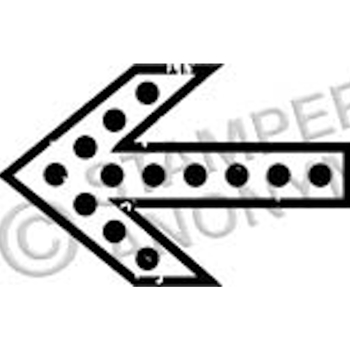 Tim Holtz Rubber Stamp ARROW 3 Stampers Anonymous D2-2338