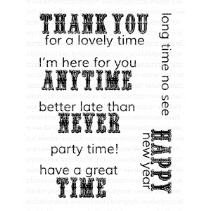 Clearly Besotted TIME TO CELEBRATE ADDITIONS Clear Stamp Set*