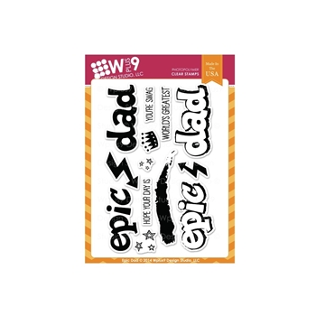 Wplus9 EPIC DAD Clear Stamps CL-WP9ED